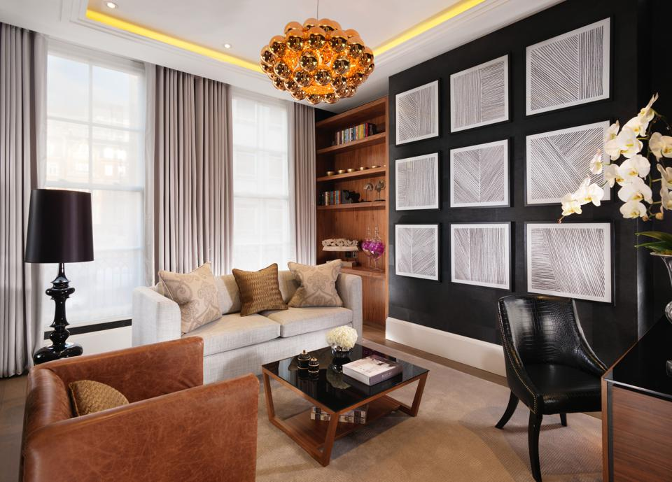 The apartments at Flemings Mayfair hotel in London have a stylish decor and good furniture