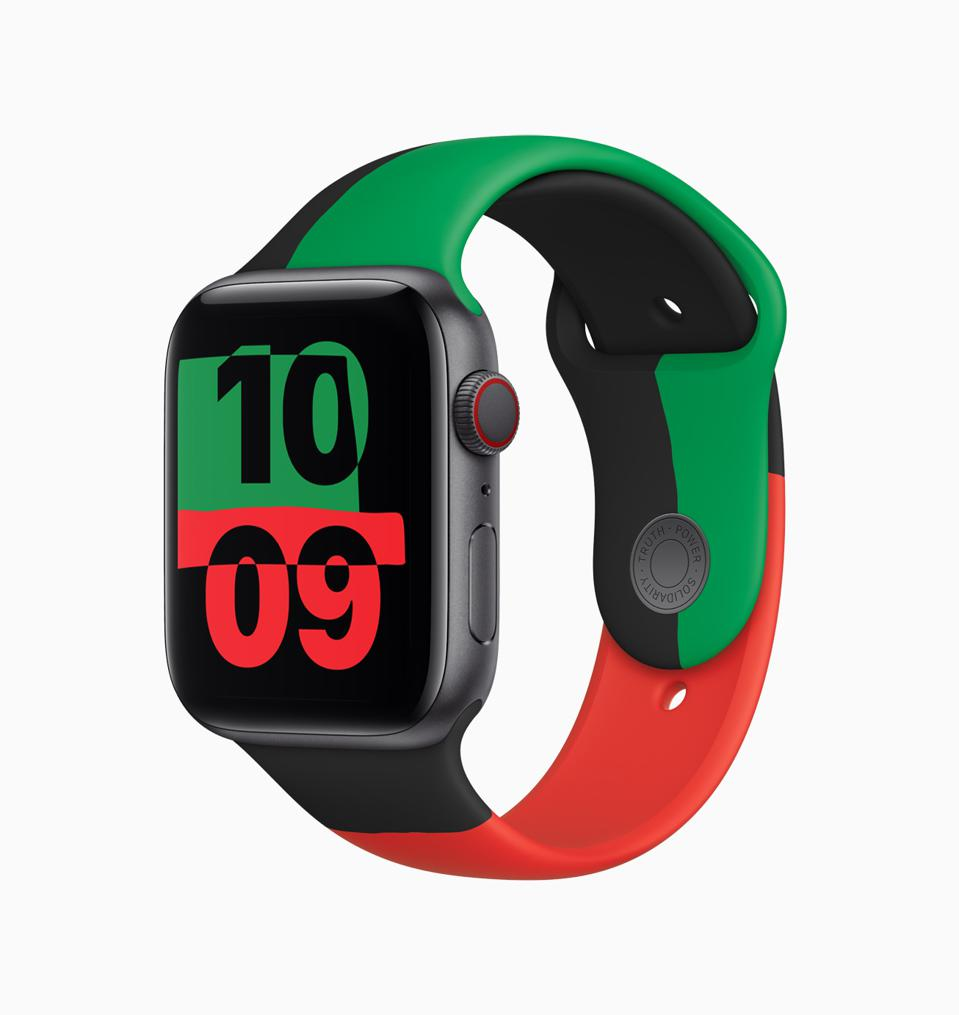 Apple's special-edition Apple Watch Series 6 for Black History Month.