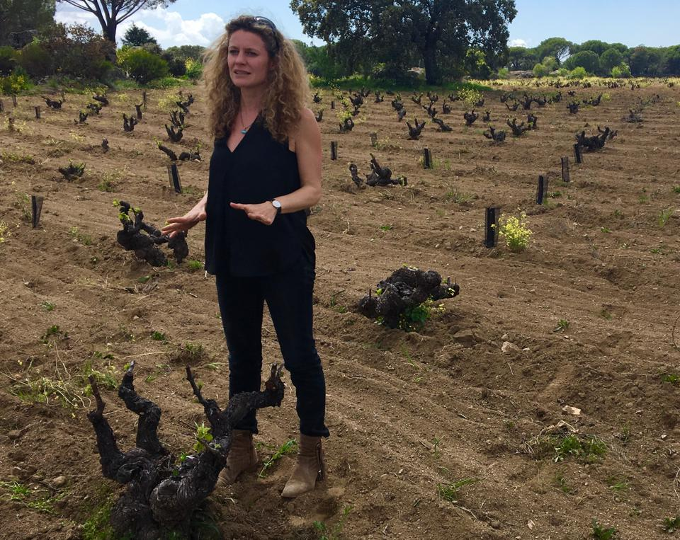 Winemaker Isabel Galindo Espí in vineyard