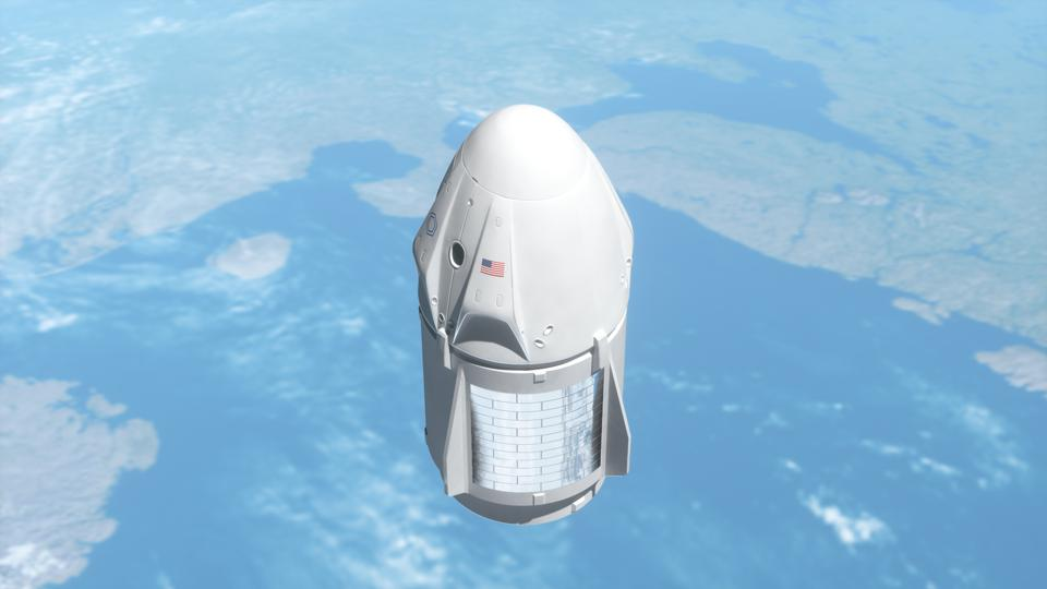 New york, USA - May 31, 2020: SpaceX launched Crew Dragon mission.
