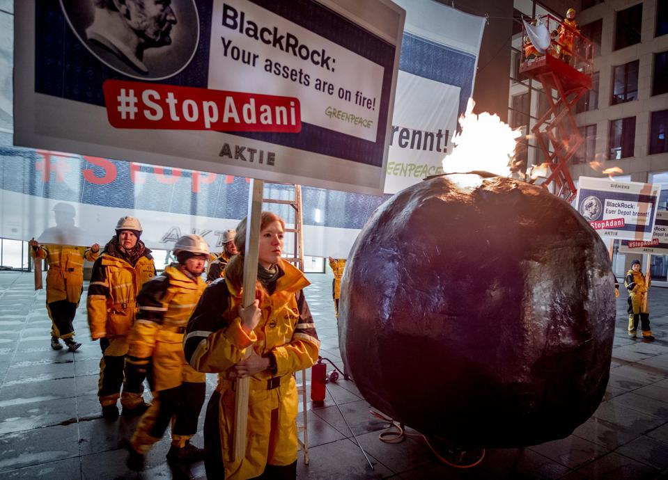 Germany BlackRock Siemens Greenpeace