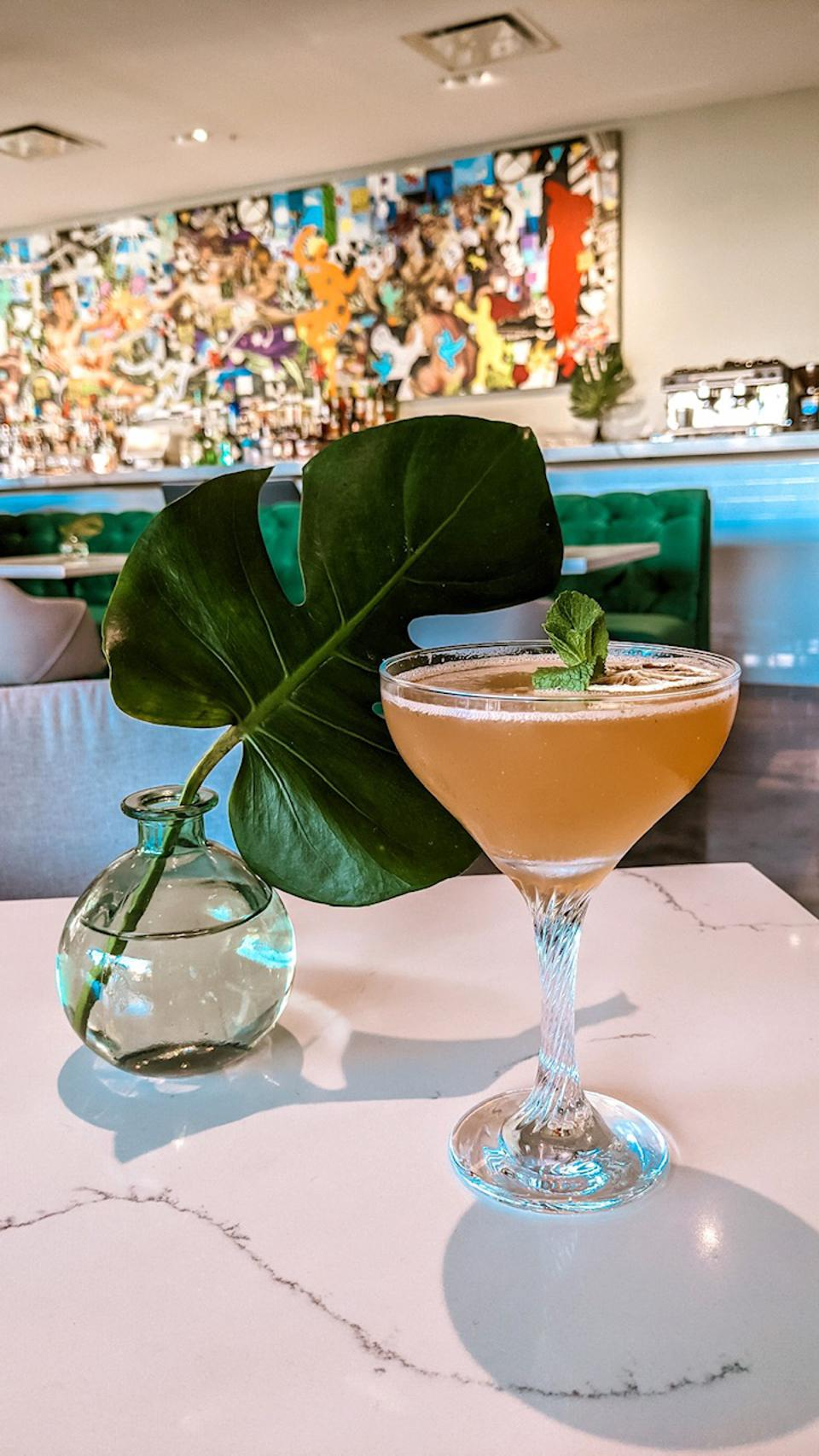 A cocktail at Leku in Miami.
