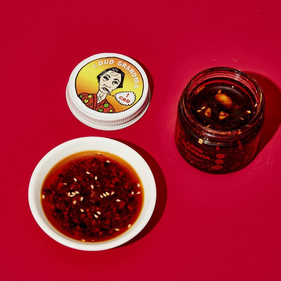 Loud Grandma's CBD Chili Crisp Oil's chili crisps