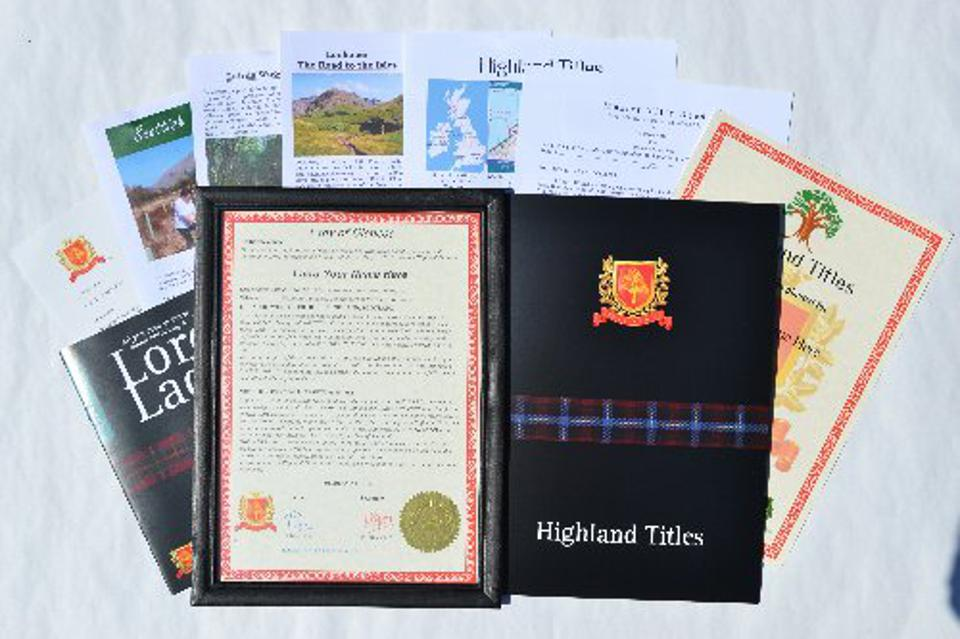 Leather bound samples of Highland Titles