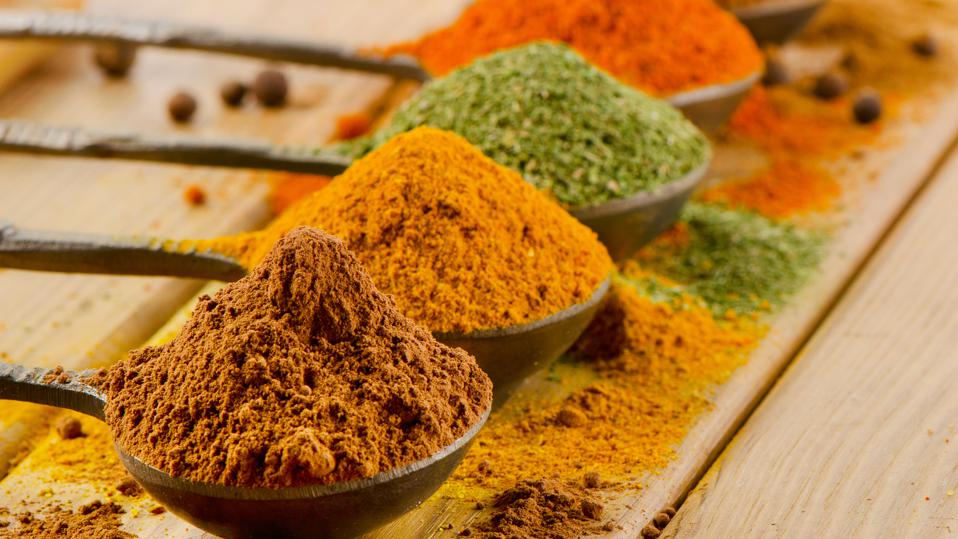 An array of spices
