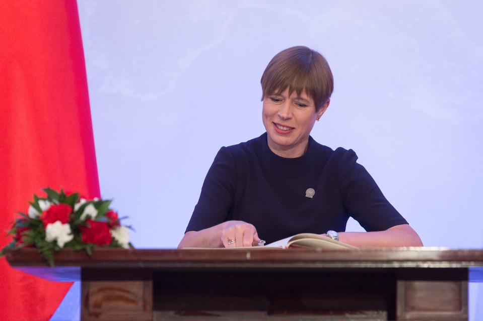 President of Estonia Kersti Kaljulaid has announced her withdrawal from the OECD leadership race on Tuesday, Jan. 26