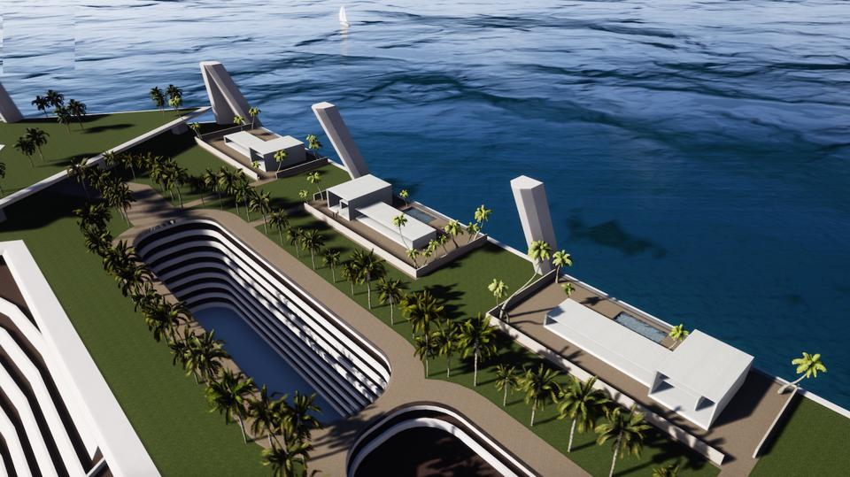 The Blue Estate man-made island concept is a massive real estate development concept.