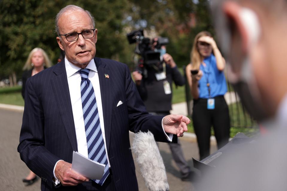 White House Economic Adviser Larry Kudlow Speaks To The Media