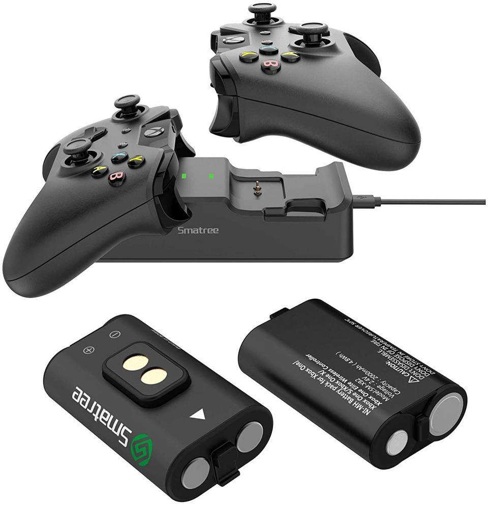 Smatree 2 Pack Rechargeable Batteries with Dual Charging Station For Xbox One