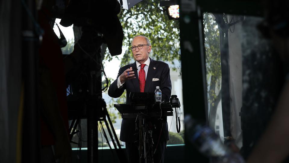 Trump Economic Advisor Larry Kudlow Interviewed By Fox At White House