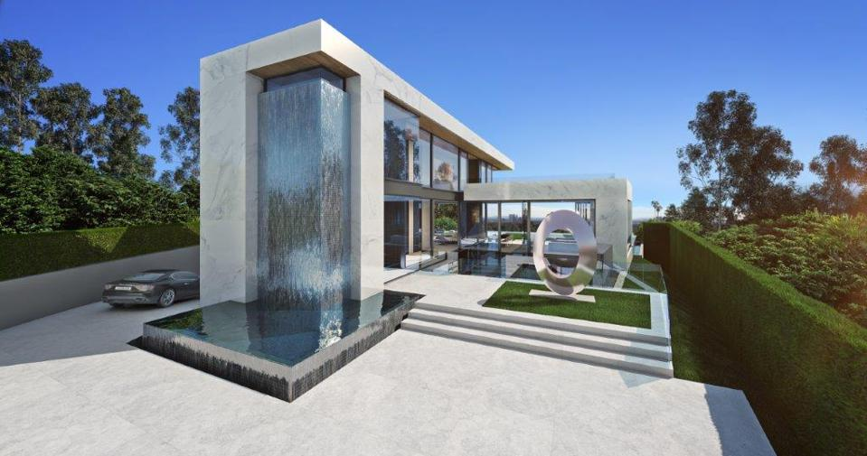 A rendering for a luxury home in Los Angeles.