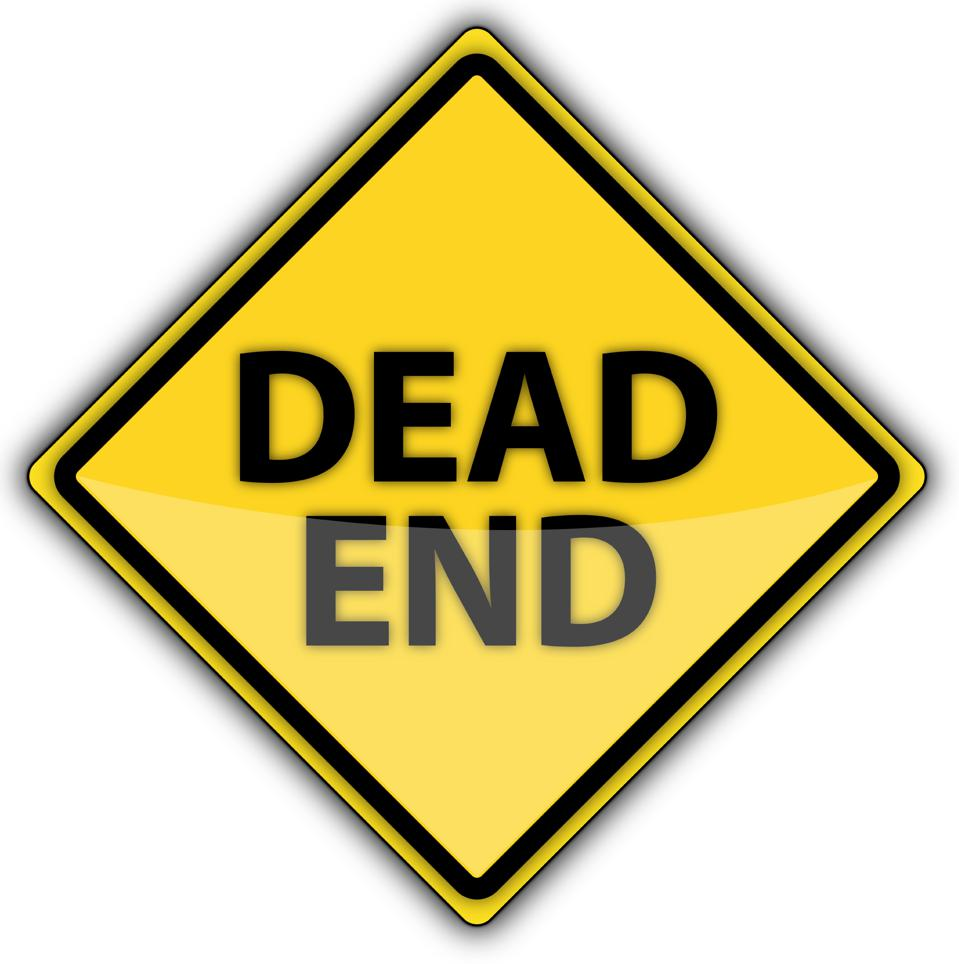 Yellow Road Sign | Dead End