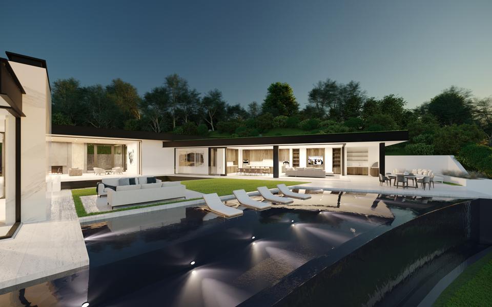 luxury paul mcclean home at 1200 laurel way in Los Angeles.