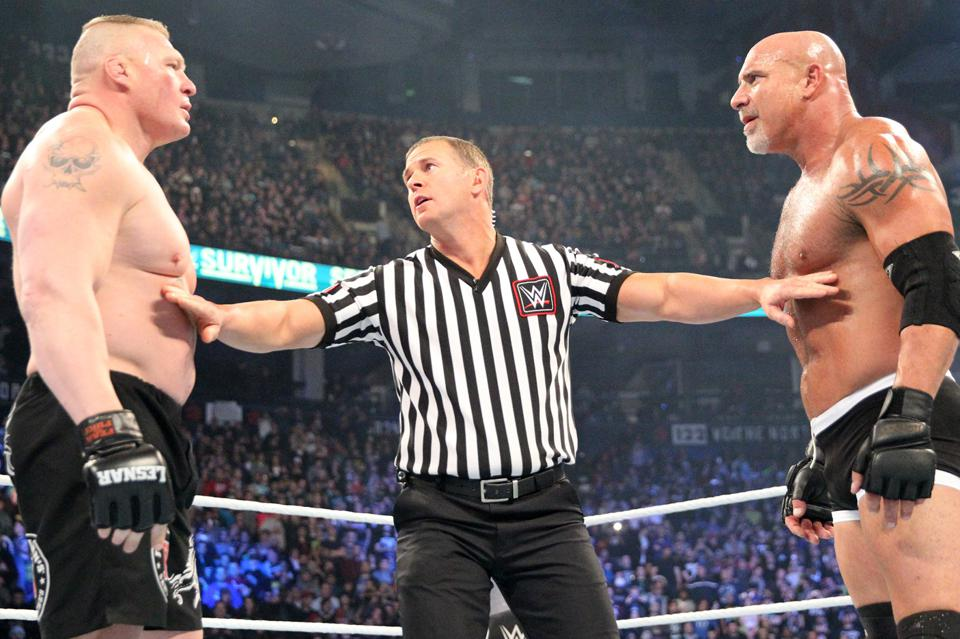 Brock Lesnar and Goldberg are listed as Top 10 favorites to win the Men's Royal Rumble.