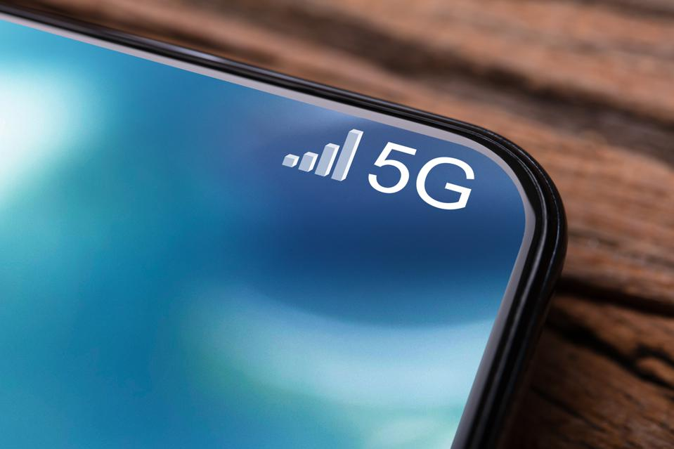 Mobile Phone Connected To 5G Network
