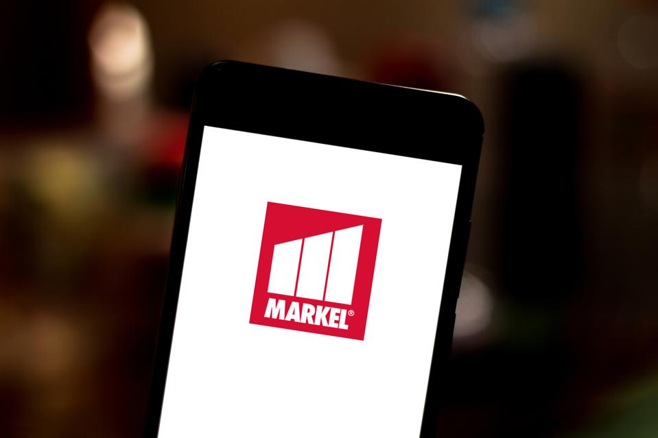 In this photo illustration the Markel Corporation logo is...