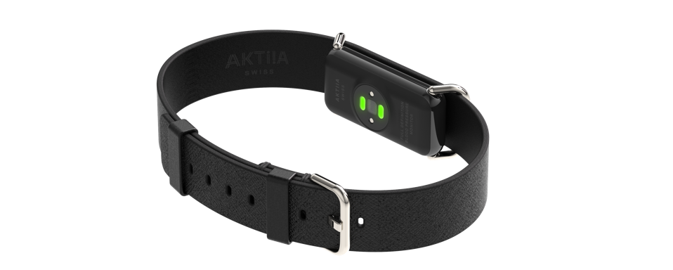 A picture of Aktiia's blood pressure monitoring wristband
