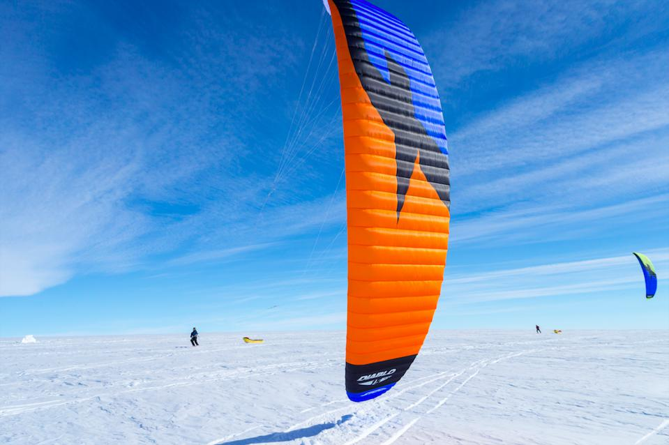 A Cookson kite-skiing expedition across Greenland's ice fields.