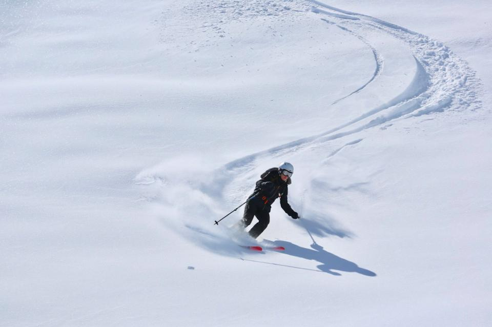 Skiing virgin slopes with Cookson Adventures.