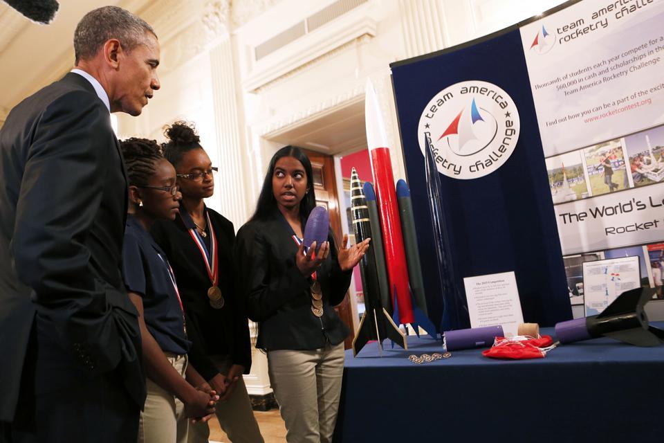 US President Barack Obama hosts the 2015 White House Science Fair at the White House