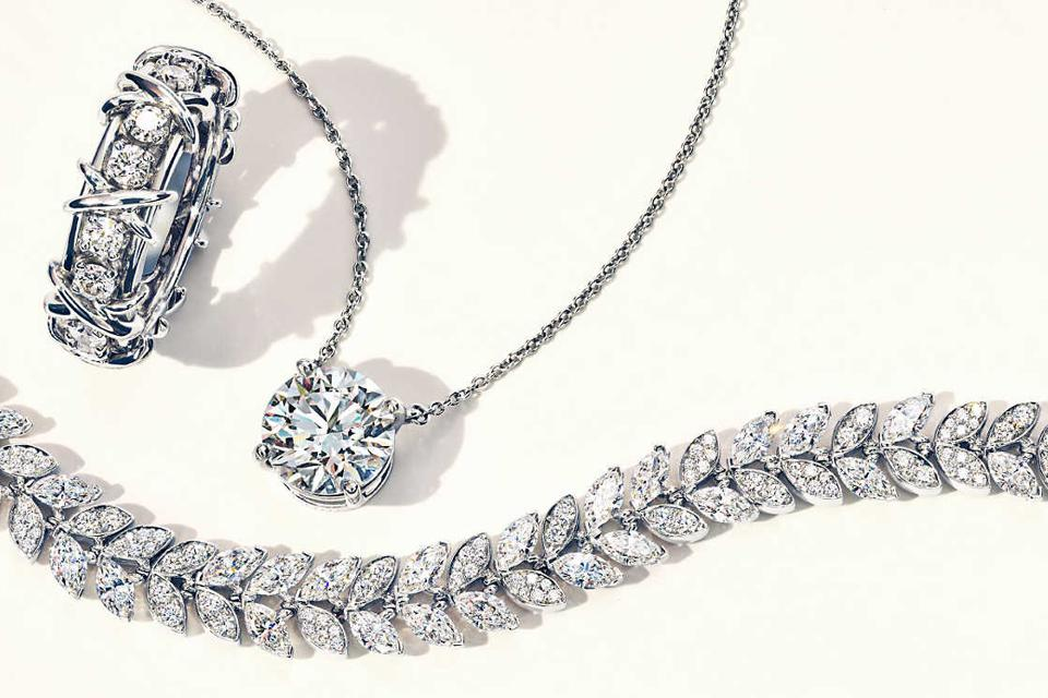 Diamond jewelry from Tiffany & Co.