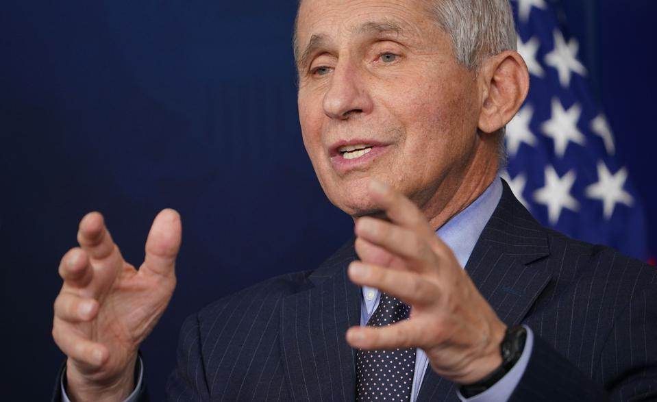Health briefing by Dr Anthony Fauci