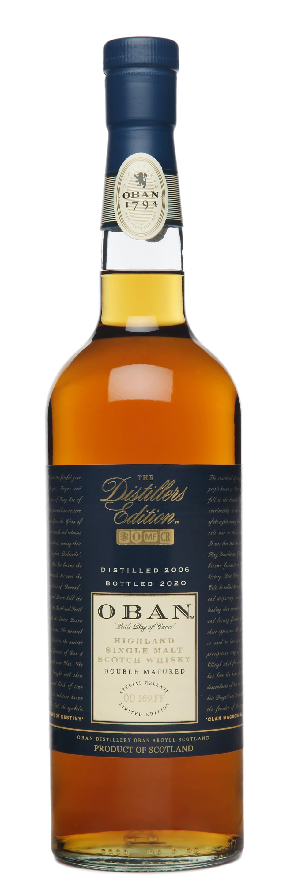 Bottle of Oban 2020 Distiller's Edition Scotch