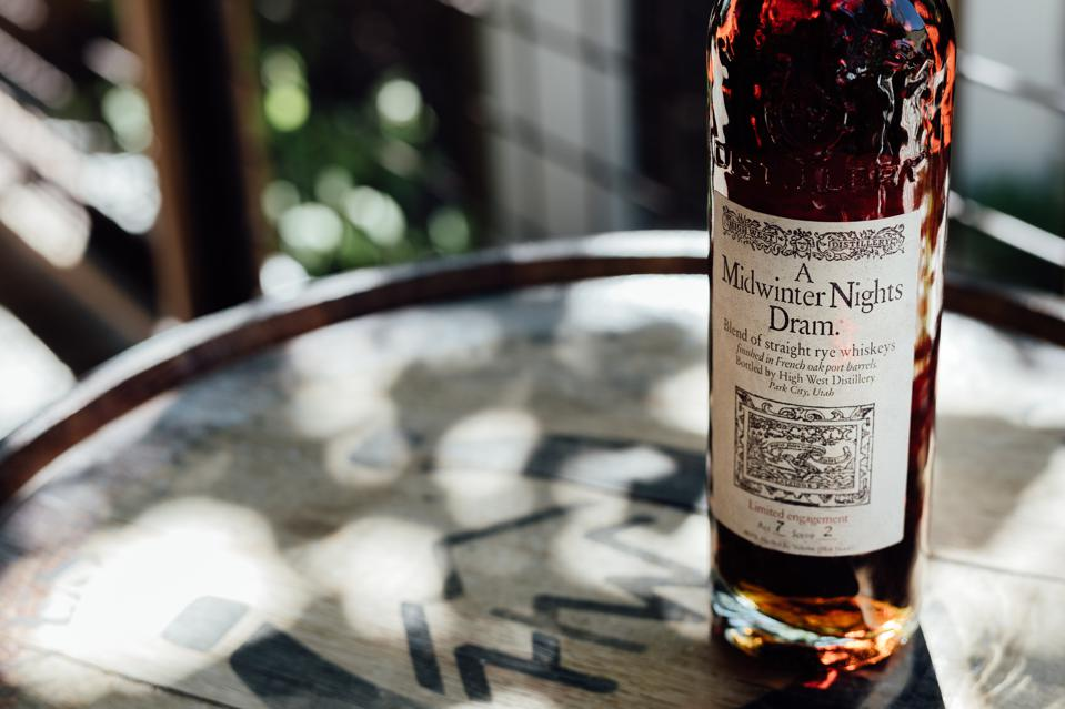 Bottle of High West A Midwinter's Dram Rye Whiskey