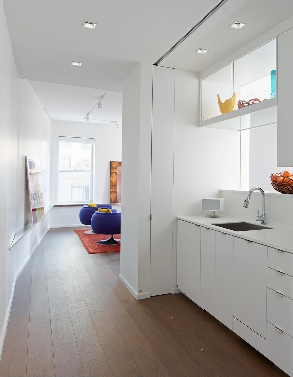The kitchen in a Manhattan apartment.