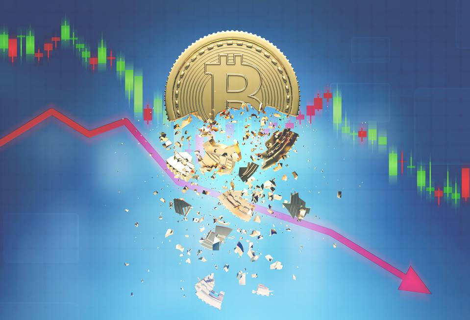 Bitcoin and a falling graph