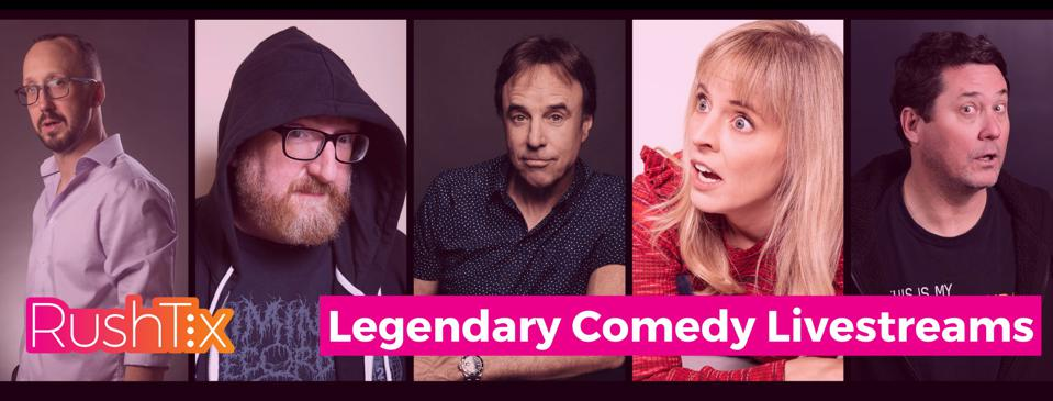 Comedians featured on livestreams by RushTix
