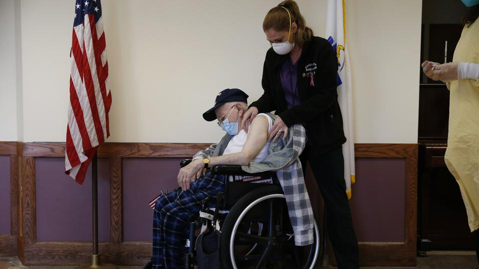 Vaccinations Distributed At Veterans Homes