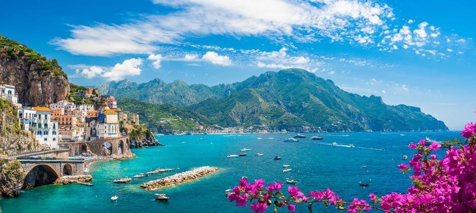 Landscape with Amalfi coast