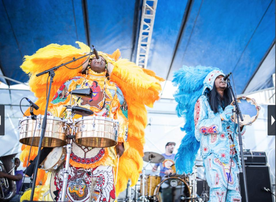 Indian Chiefs performing at New Orleans Jazz Fest