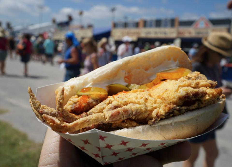 Close up of delicious Food at the New Orleans Jazz Fest