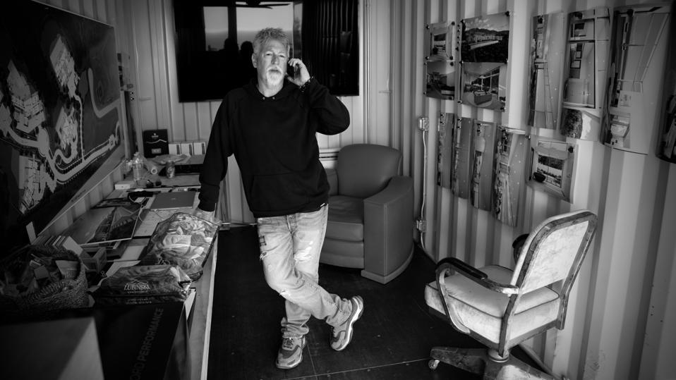 Malibu developer Scott Gillen pictured on the phone