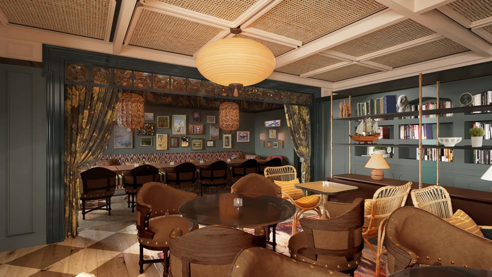Rendering of the Faraway private dining room