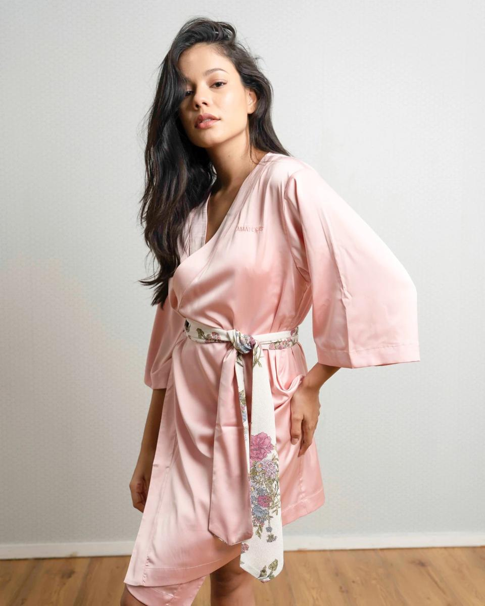 AAMATERAS's classic KIMONO robe with Kimono belt. An amazing gift for anyone this upcoming Valentine's Day.