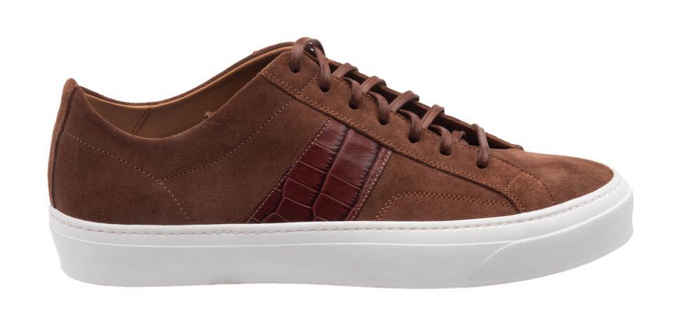 Bruno Magli Onzo Croc-Print Stripe Sneaker