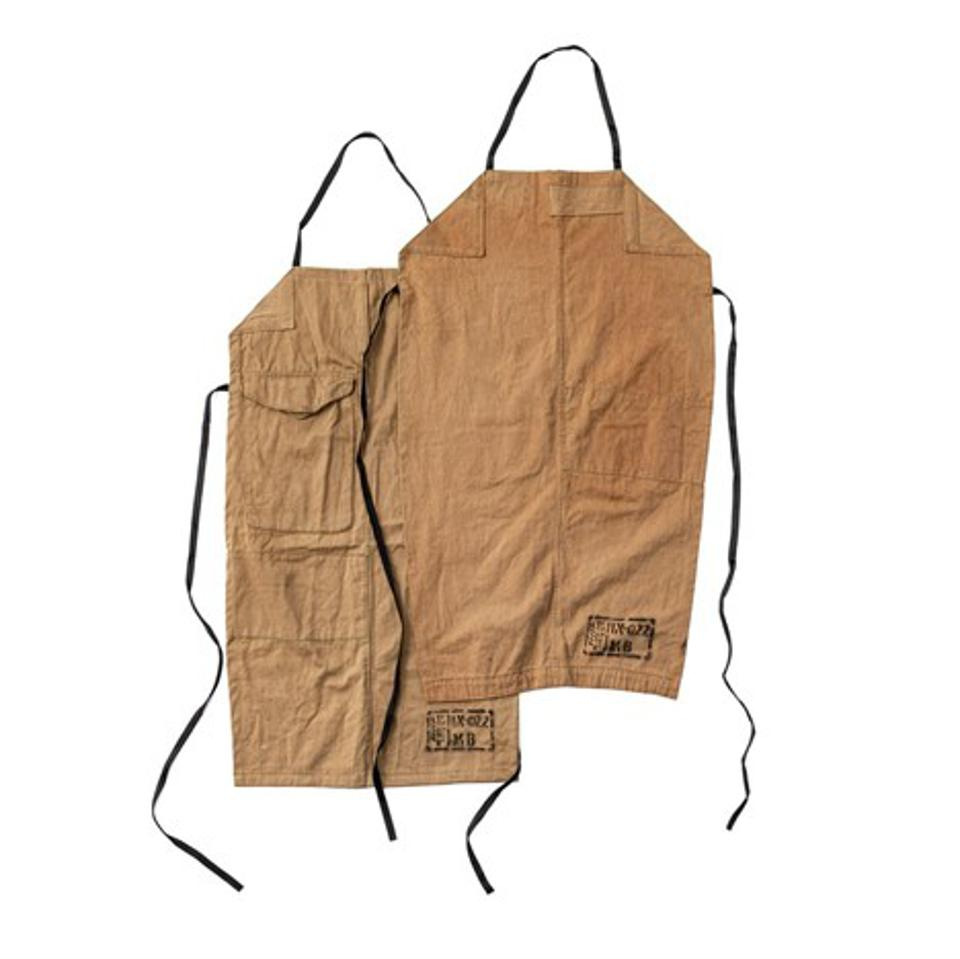 Used Cotton Vintage Coverall Apron from Burke Decor