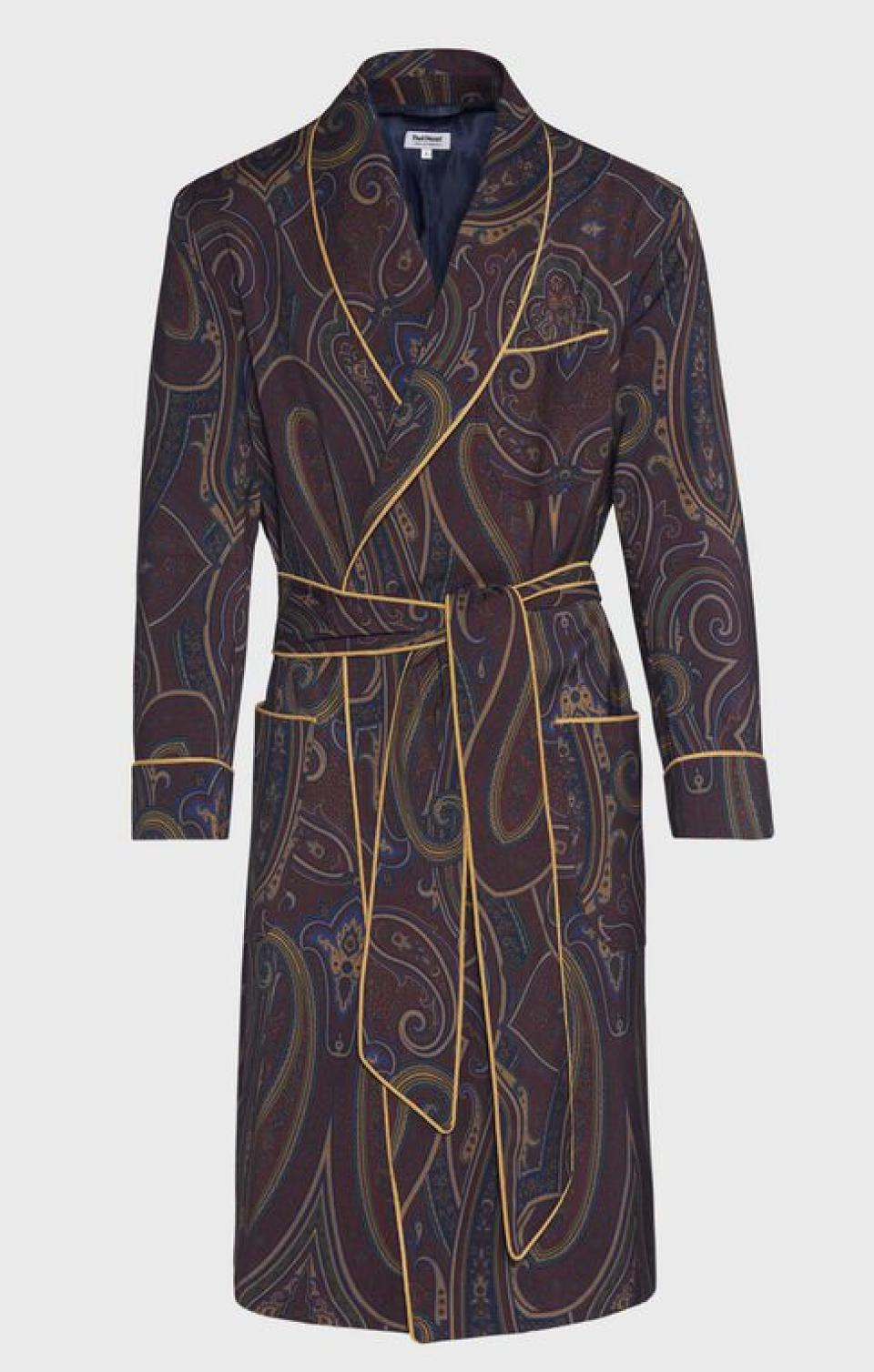Made on Madison Wool Paisley Robe by Paul Stuart