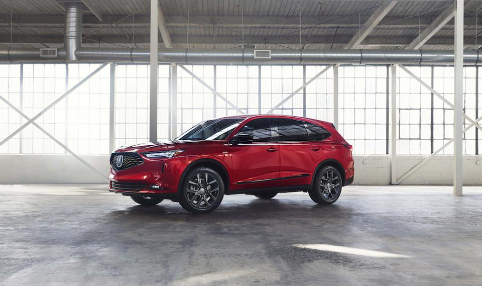 2022 Acura MDX Red