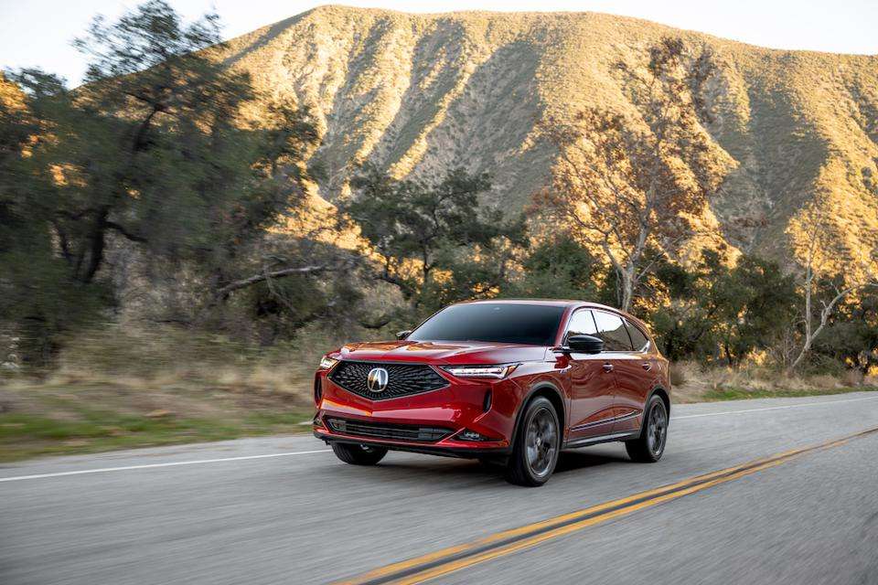 2022 Acura MDX Driving Red