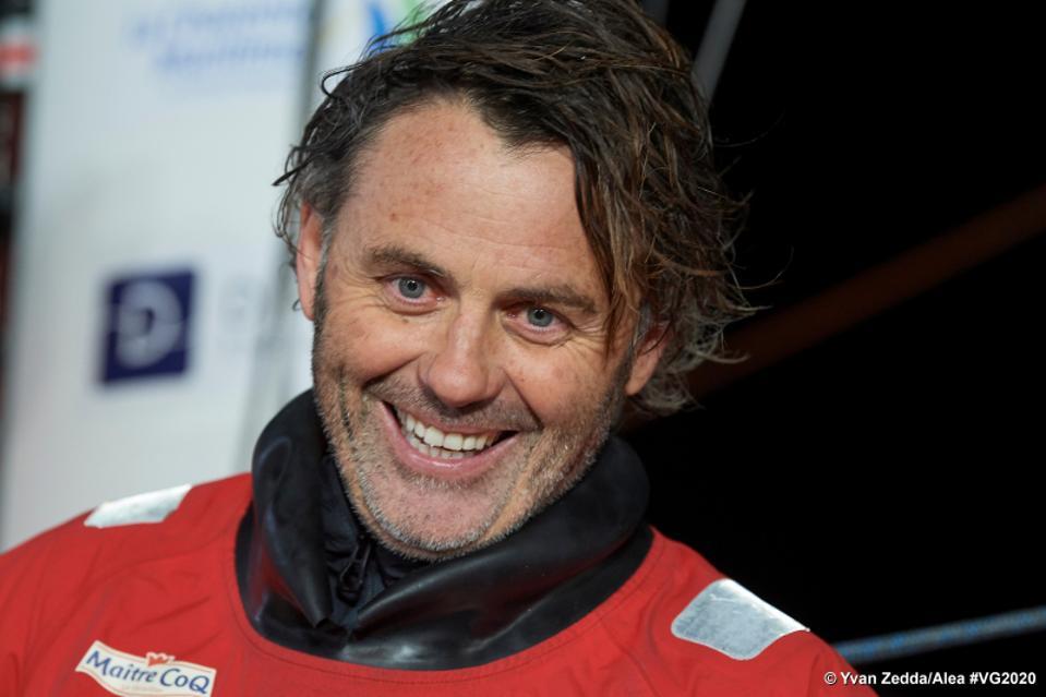 Skipper Yannick Bestaven, winner of the Vendée Globe