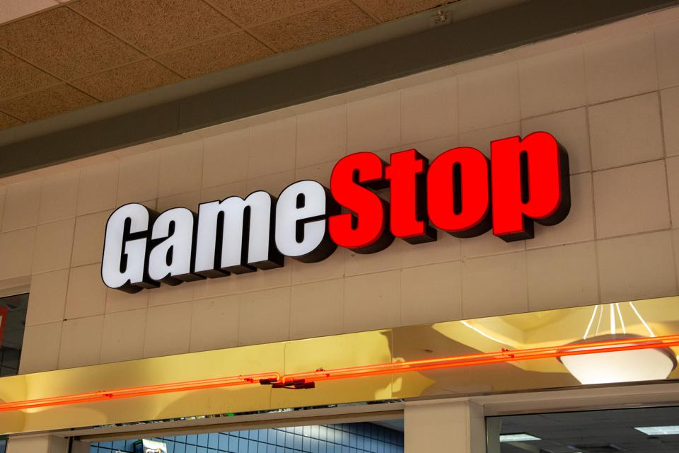 The GameStop sign seen inside the Susquehanna Valley Mall.