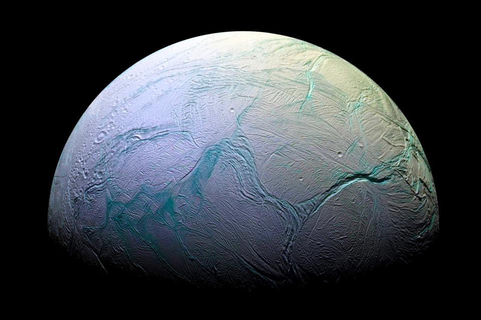 Photograph of Enceladus