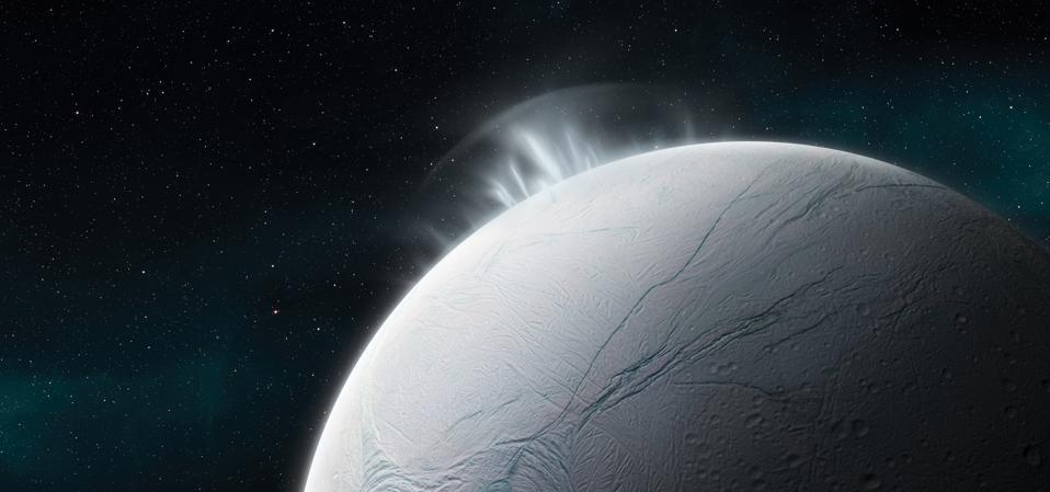 Enceladus (Moon Of Saturn) Illustration