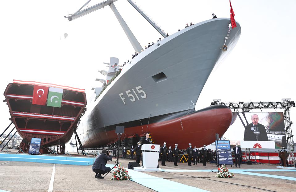 Istanbul (F-515) Frigate's launch ceremony