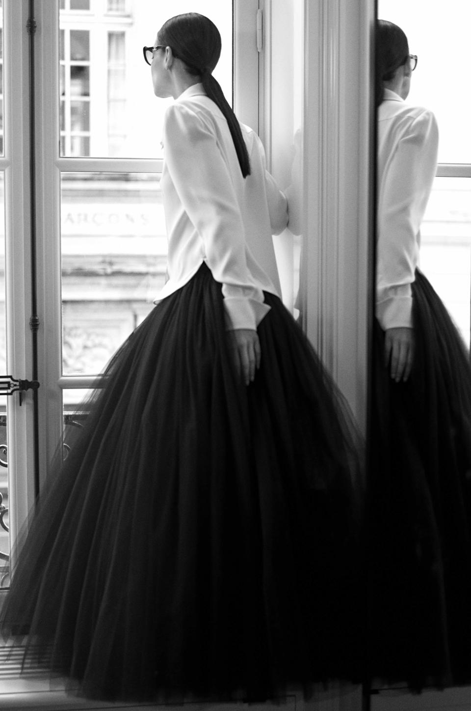 In-house model Amanda Sanchez captured in 31 rue Cambon