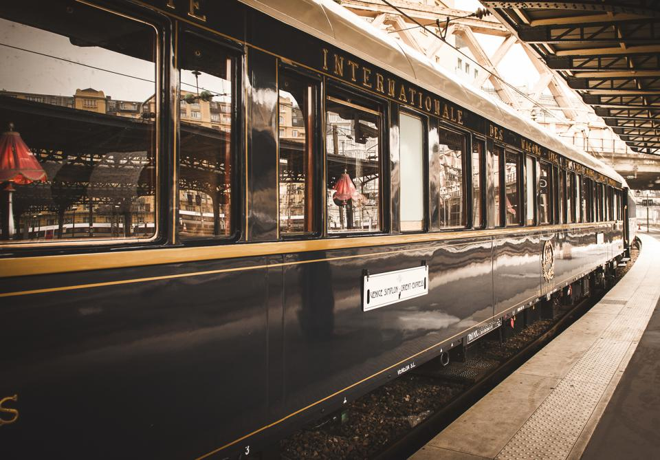 The exterior of the Belmond Venice Simplon-Orient-Express